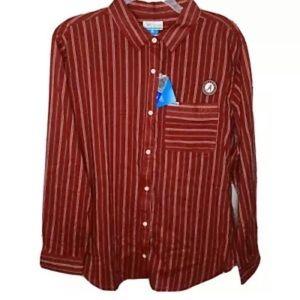 Columbia PFG Alabama Crimson Tide Shirt LS Large